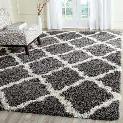 Dallas Shag Dark Gray/Ivory 8 ft. 6 in. x 12 ft. Area Rug