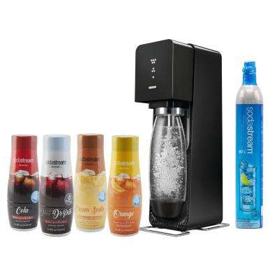Source Home Maker Starter Kit with Variety Pack Soda Flavors in Black