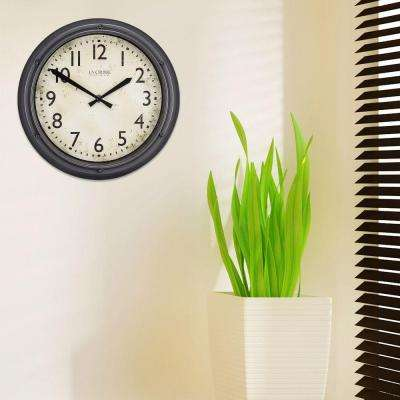 12 in. H Round Porthole Analog Plastic Wall Clock