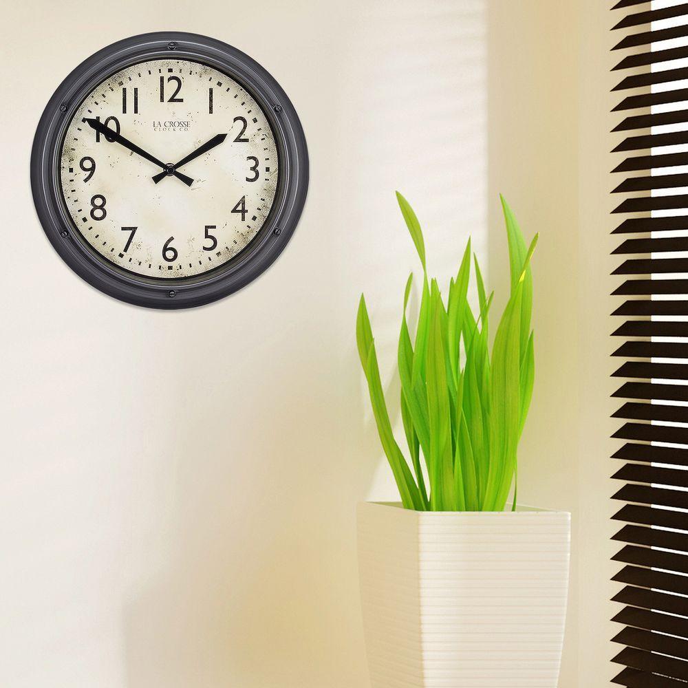 12 in. H Round Porthole Analog Plastic Wall Clock