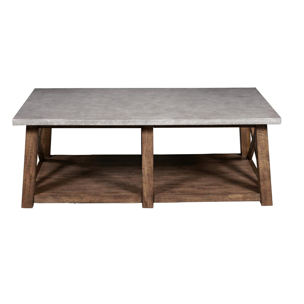 Decor Coffee Table Distressed Stockton Farm: Farmhouse Style Distressed Cocktail Table-DS-D153-210