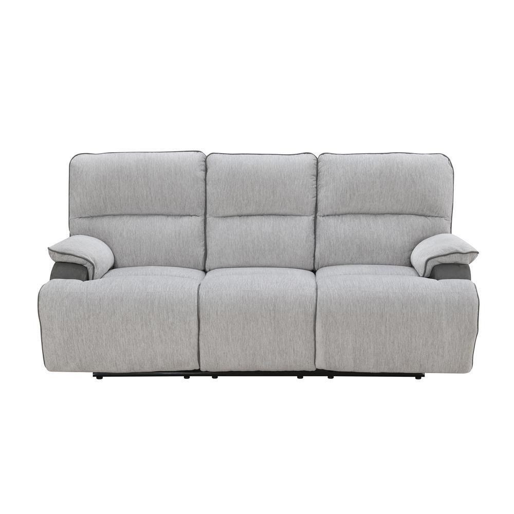 "Cyprus Light Gray and Dark Gray 40"" Recliner Sofa"