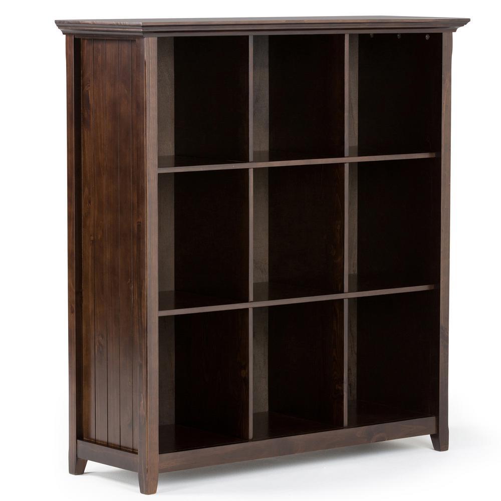 Acadian Dark Tobacco Brown Open Bookcase
