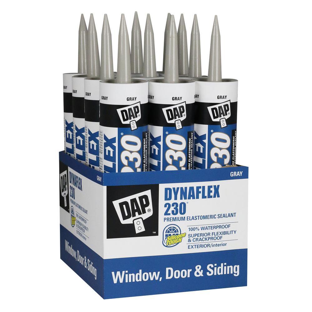 Dynaflex 230 10.1 oz. Gray Premium Indoor/Outdoor Sealant (12-Pack)