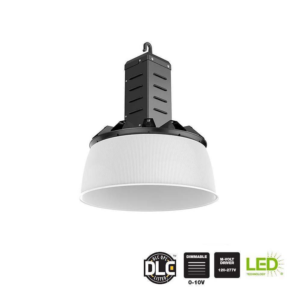 16 in. 750-Watt Equivalent Integrated LED Dimmable Black High Bay Light 5000K