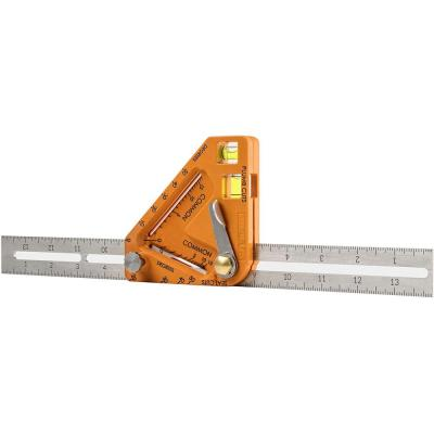 Standard Imperial Multi-Purpose Carpenter Square Layout Tool - 14 in. for Roof and DIY Carpenters
