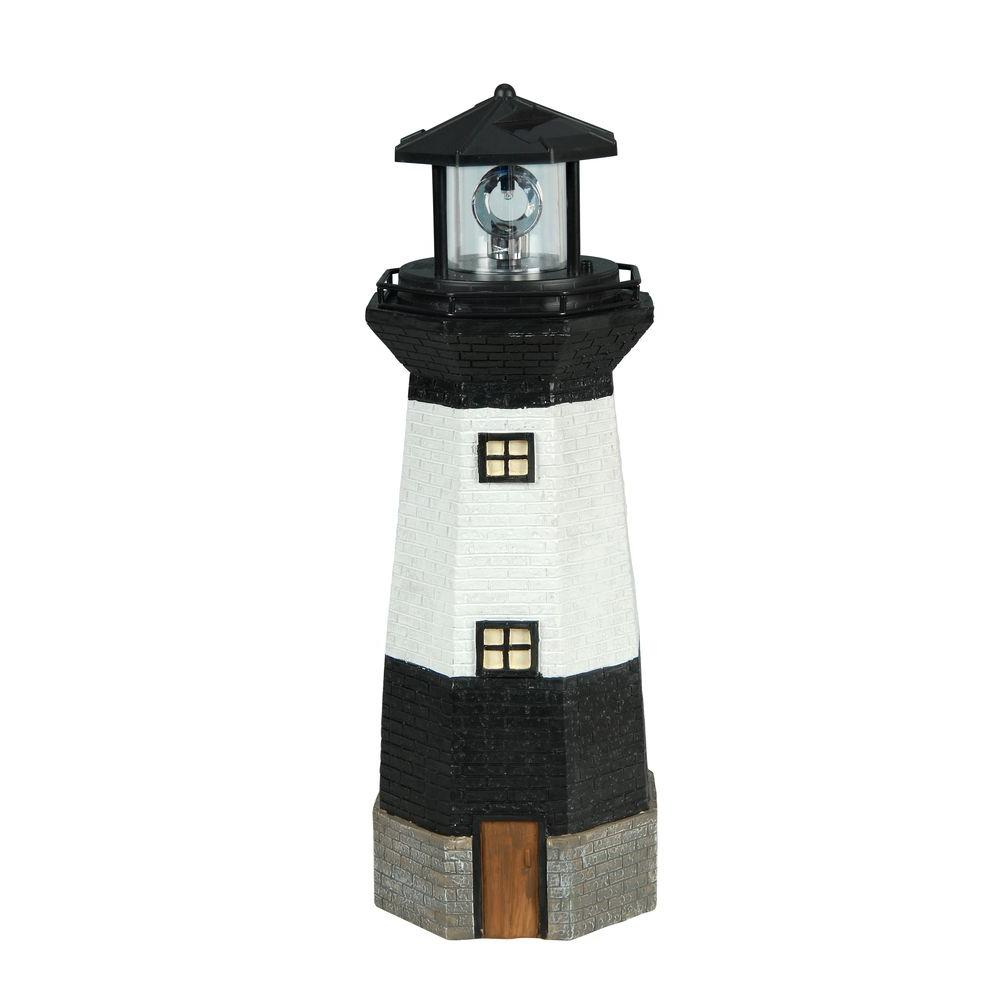 Exceptionnel Moonrays Solar Powered Integrated LED Striped Lighthouse Outdoor Landscape  Garden Light