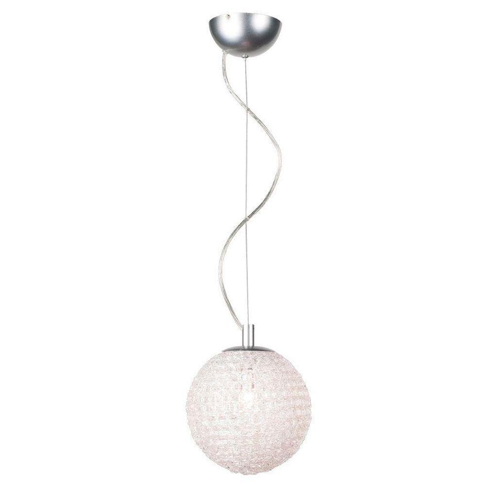 Eurofase Melody Collection 1-Light Chrome Hanging Large Pendant