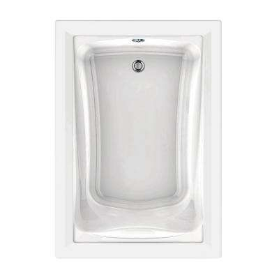 Green Tea 60 in. x 42 in. Reversible Drain EverClean Air Bath Tub with Chromatherapy in White