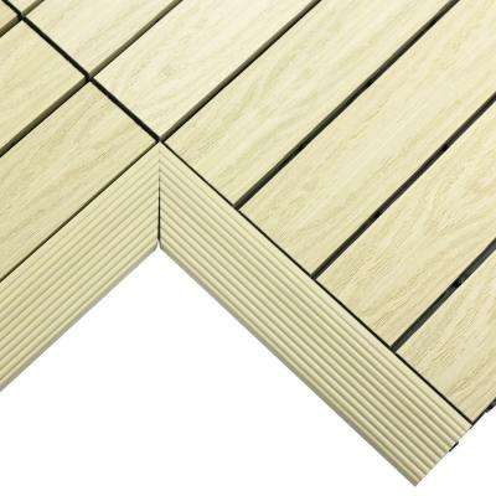 1/6 ft. x 1 ft. Quick Deck Composite Deck Tile Inside Corner in Sahara Sand (2-Pieces/box)