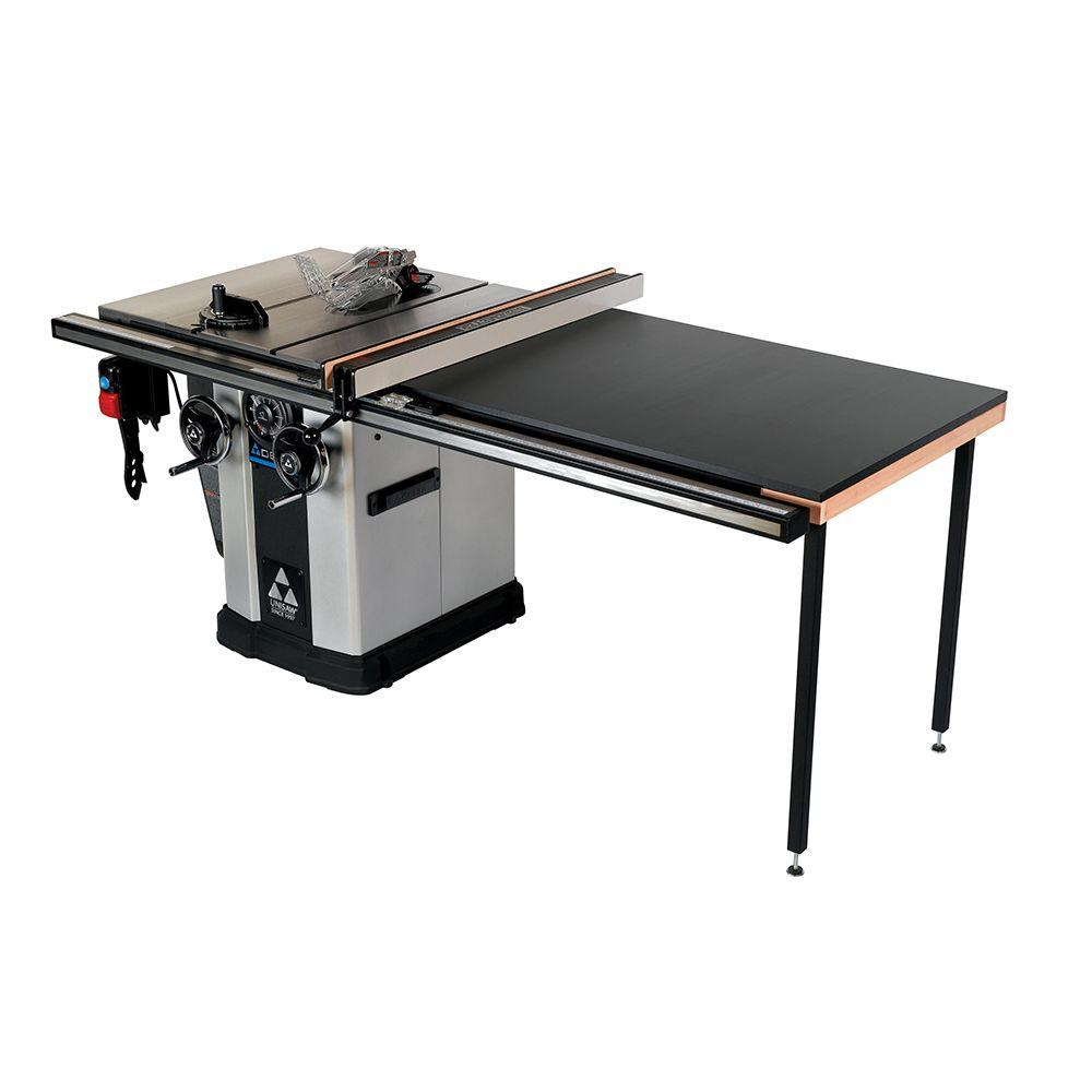 Delta 15 amp 5hp 10 in unisaw table saw with 52 in biesemeyer fence system 36 l552 the home Table saw fence