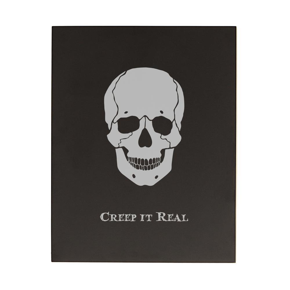 14 in. H x 11 in. W Skull Halloween Chalkboard