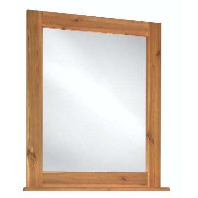 Bredon 34 in. L x 30 in. W Framed Vanity Wall Mirror in Rustic Natural