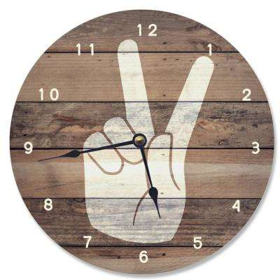 """A Time For Peace"" by Daphne Polselli Wall Clock"