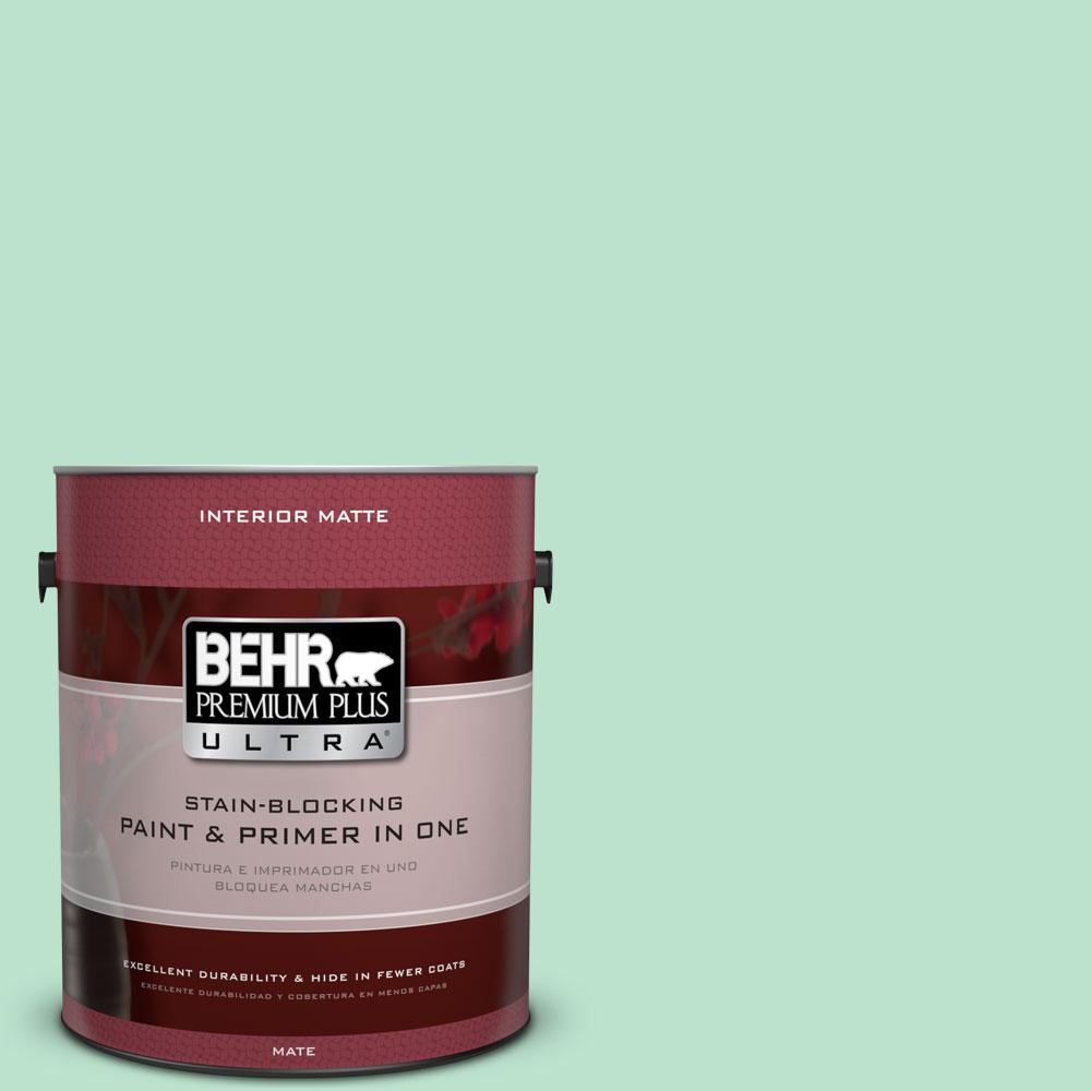 BEHR Premium Plus Ultra 1 gal. #P410-2 Spearmints Matte Interior Paint