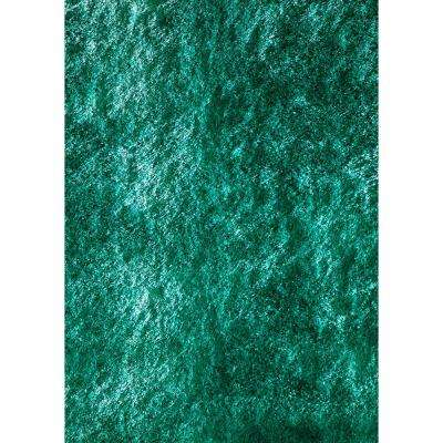 Luster Shag Teal 5 ft. x 7 ft. Indoor Area Rug