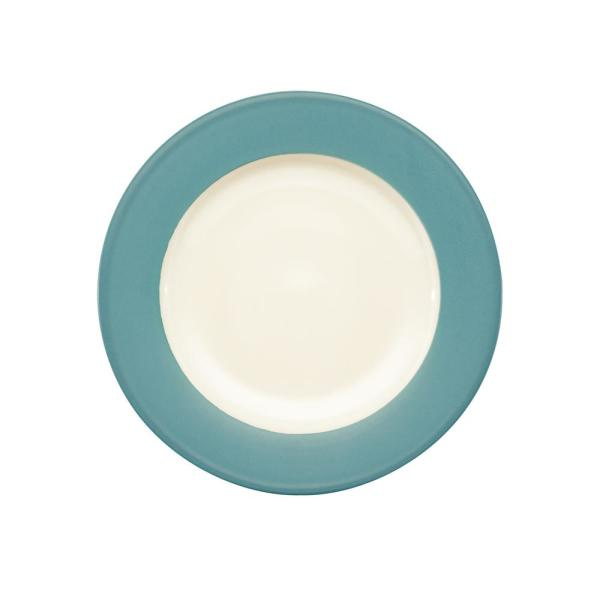 Noritake Colorwave 11 in. Turquoise Rim Dinner Plate