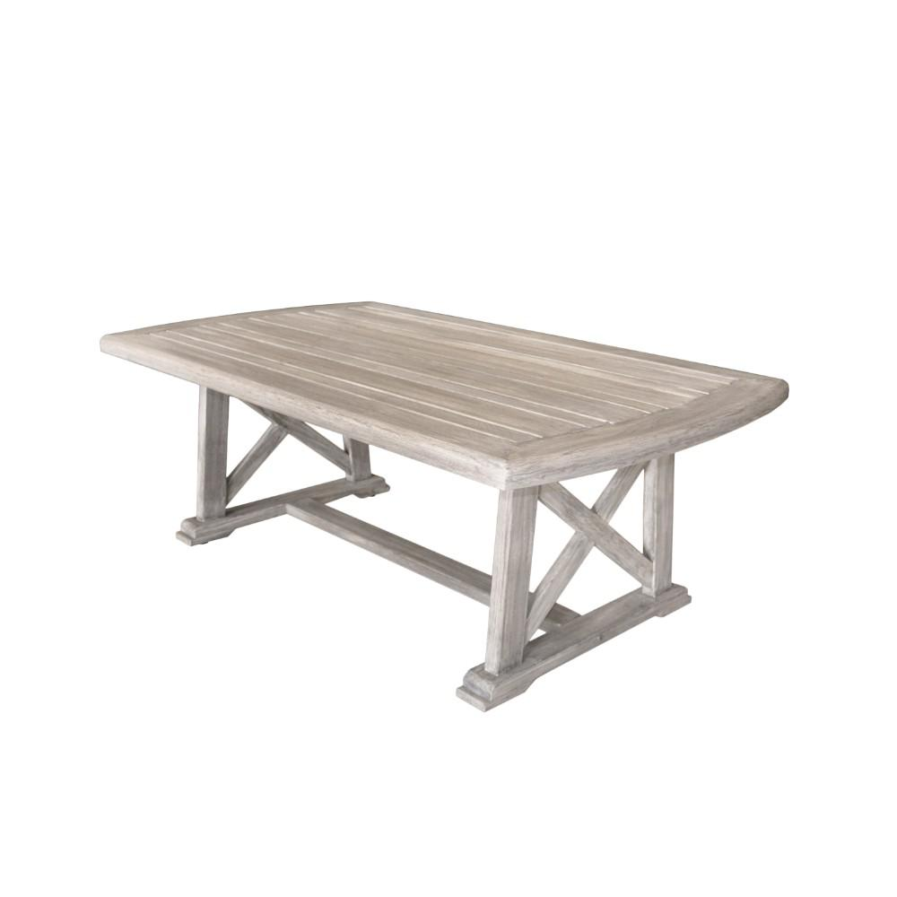 Teak Garden Coffee Table: Courtyard Casual Surf Side Collection Teak Outdoor Coffee