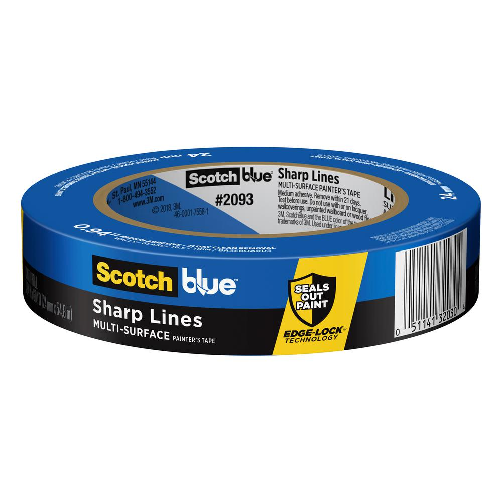 3M 3M ScotchBlue 0.94 in. x 60 yds. Trim and Baseboards Painter's Tape with Edge-Lock