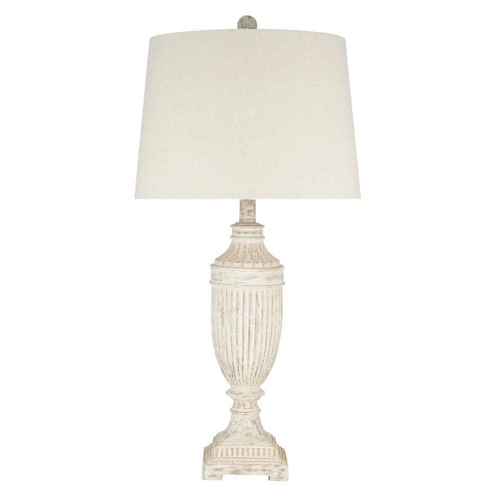 Cresswell 28 In White Rustic Farmhouse Table Lamp Bm1573 01 The Home Depot