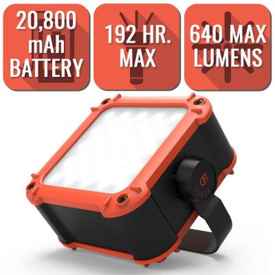 FLUX Series 640 Lumen LED Work Light with 20,800mAh Power Bank for Mobile Charging