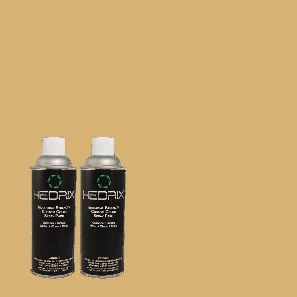 Hedrix 11 oz. Match of PPU6-16 Cup of Tea Flat Custom Spray Paint (8-Pack)