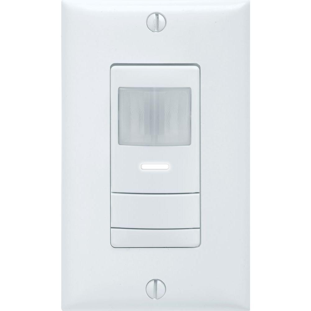 Lithonia Lighting Single-Pole Wall Switch PIR Occupancy Sensor, White