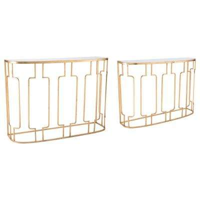 Roma Gold Console Tables (Set of 2)