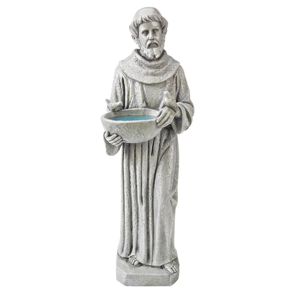 20 in. H Nature's Nurturer St. Francis Small Garden Statue