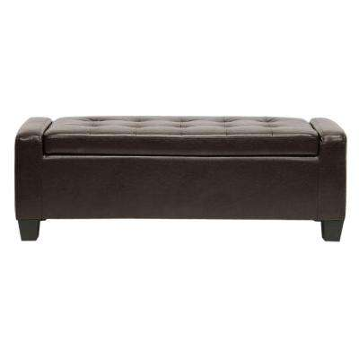 Manchester Dark Brown Storage Bench