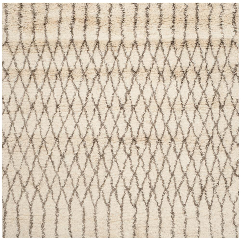 Casablanca Ivory/Gray 6 ft. x 6 ft. Square Area Rug