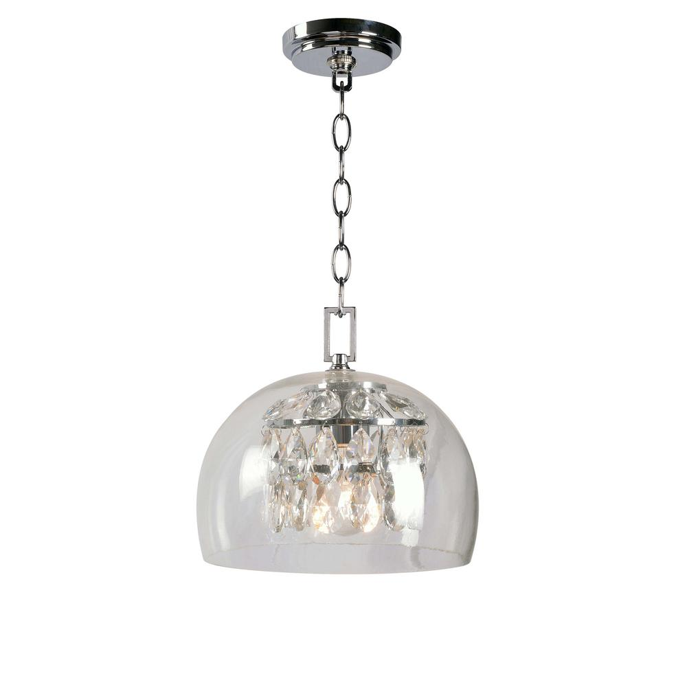 Roxy 1-Light Chrome Mini Pendant