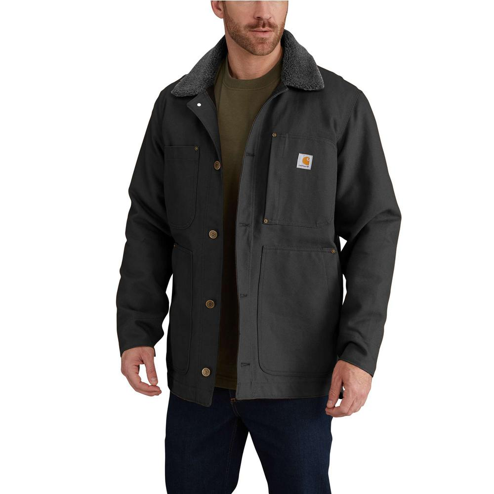 Carhartt Men's Tall Large Black Cotton Full Swing Chore Coat