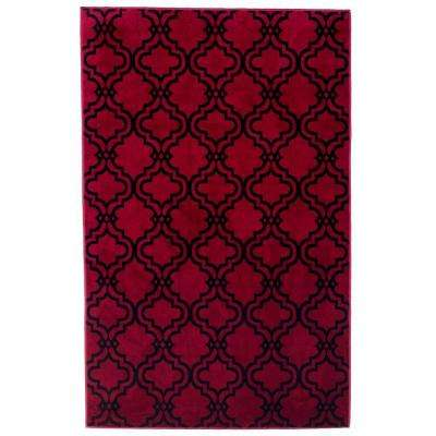 Double Lattice Red 5 ft. x 7 ft. 7 in. Area Rug