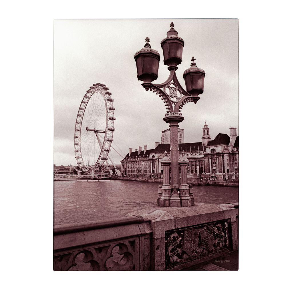 null 24 in. x 16 in. London Eye 2 Canvas Art