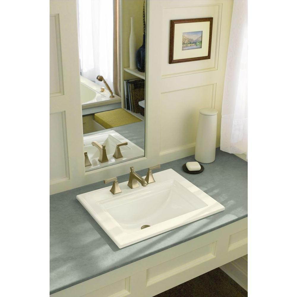 KOHLER K-2337-8-0 Memoirs Stately Bathroom Sink with Stately Design White