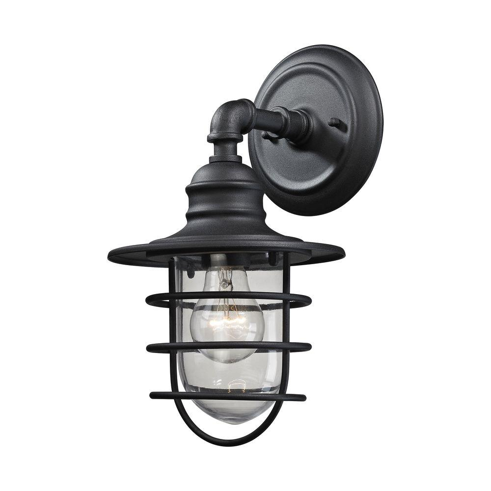 Titan Lighting Vandon 1 Light Charcoal Outdoor Wall Sconce Tn 75811 Exterior Wire Cage Lamp Industrial