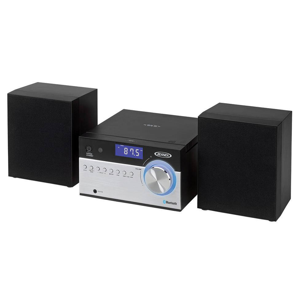 JENSEN Bluetooth CD Music System With Digital AM/FM Stereo Receiver And  Remote Control