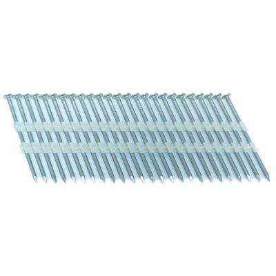 2.5 in. x 0.113 in. 20-Degree Smooth Stainless Full Round Head Plastic Strip Nails 4000 per Box