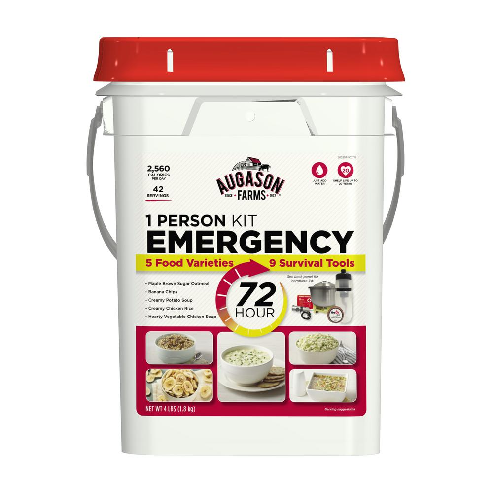 AUGASON FARMS 72-Hour 1-Person Emergency Food and Gear Su...