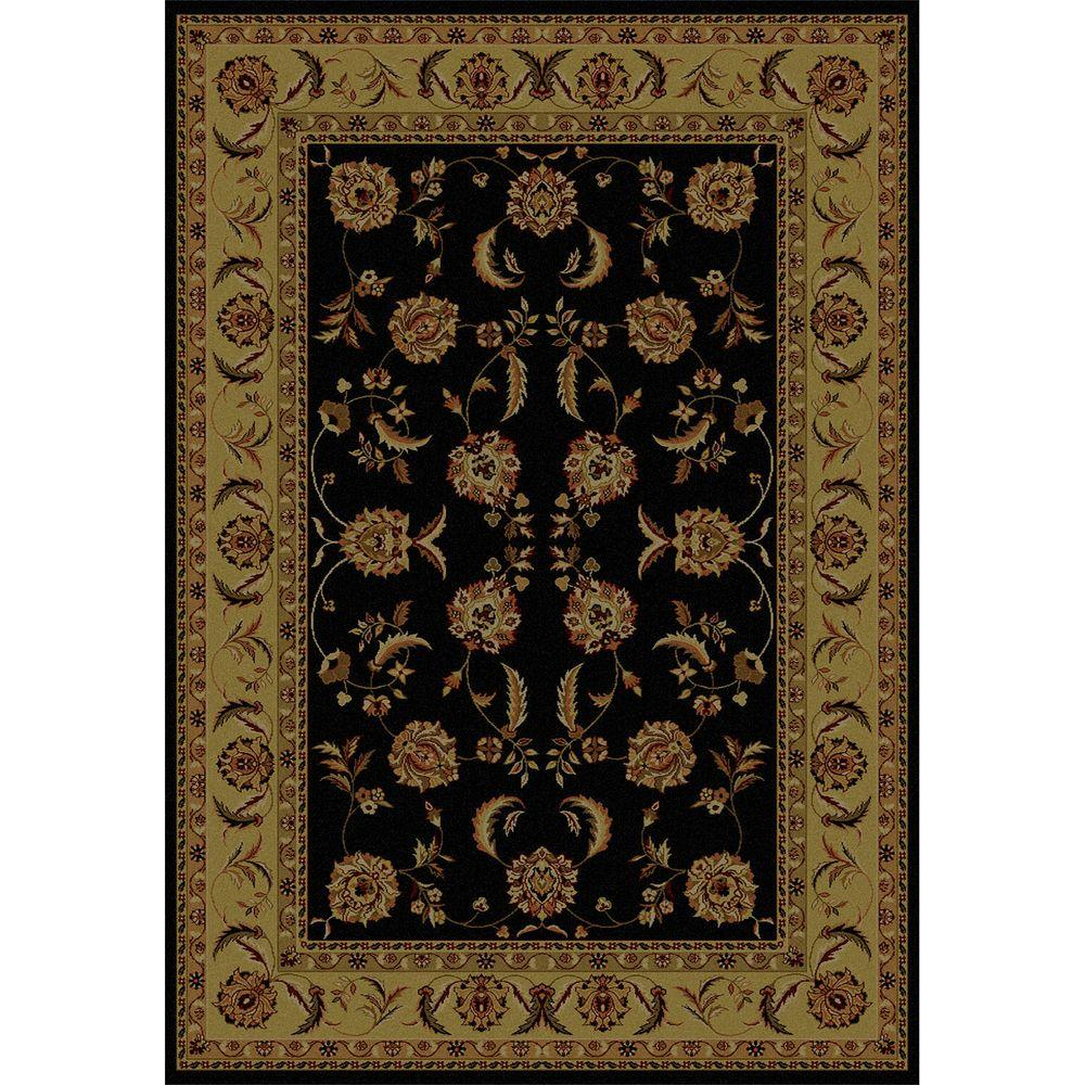 United Weavers Annabel Black 7 ft. 10 in. x 10 ft. 6 in. Traditional Area Rug