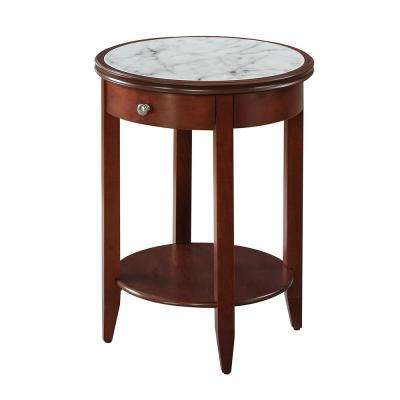 American Heritage Mahogany Baldwin 1-Drawer End Table