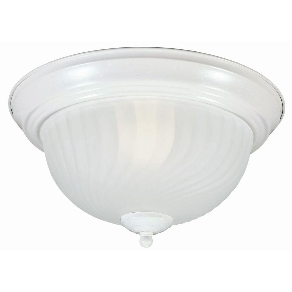 Design House Millbridge 2-Light Textured White Ceiling Light Fixture