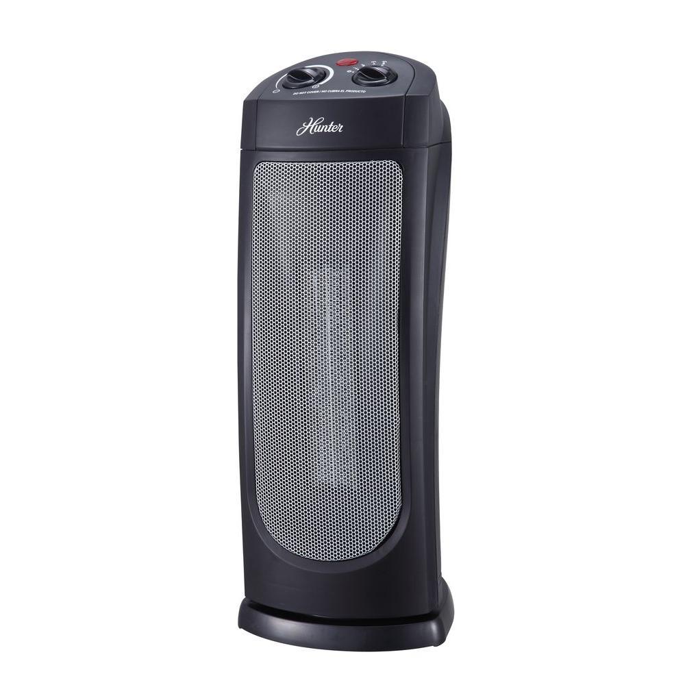 18.58 in. 1,500-Watt Oscillating Ceramic Tower Heater