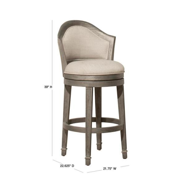 Hillsdale Furniture Monae 26 In Distressed Dark Gray Swivel Counter Stool 4707 826 The Home Depot