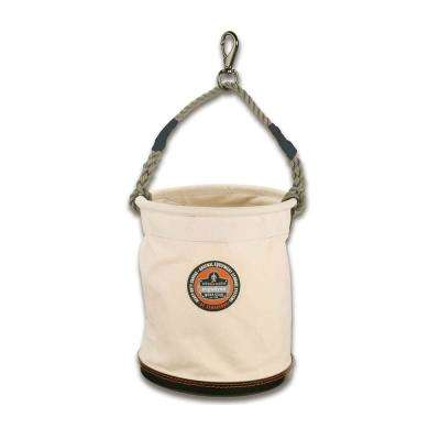 Arsenal 12.5 in Tool Bucket with Swivel Clip in White Canvas