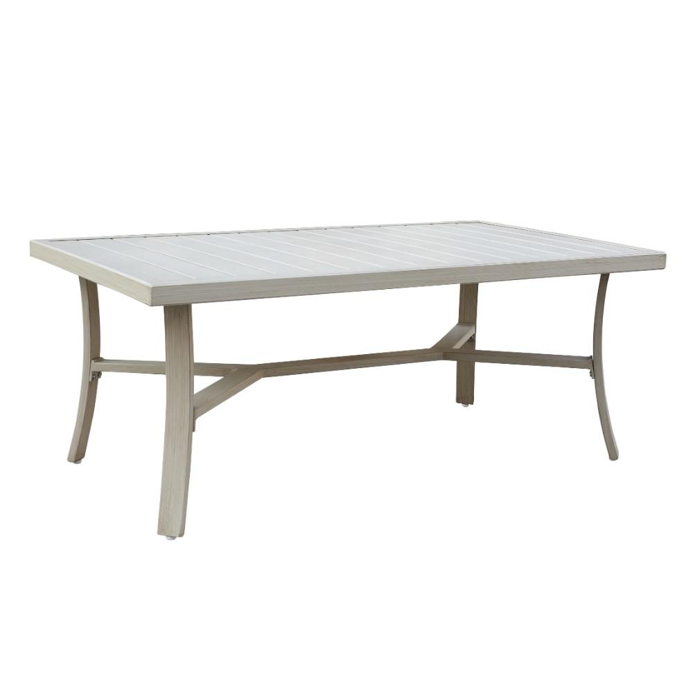 Vintage Casual Coffee Tables: Courtyard Casual Torino Collection Aluminum Outdoor Coffee