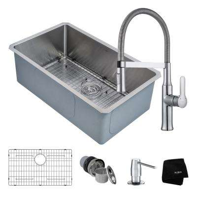 Beautiful Handmade All In One Undermount Stainless Steel 30 In. Single Bowl Kitchen  Sink