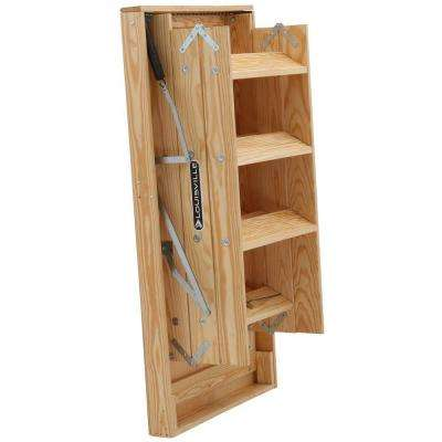 Big Boy 8 ft. 9 in. - 10 ft., 30 in. x 60 in. Wood Attic Ladder with 350 lb. Maximum Load Capacity