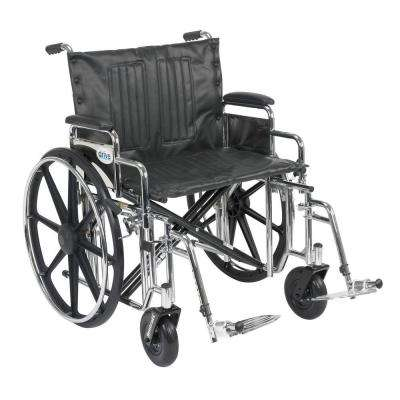 Sentra Extra Heavy Duty Wheelchair with Detachable Desk Arms and Swing-Away Footrest
